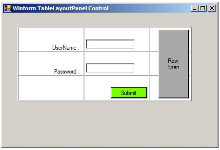Winforms tablelayoutpanel control